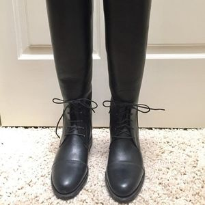 Pytchley Tall Field Boots: Black Leather